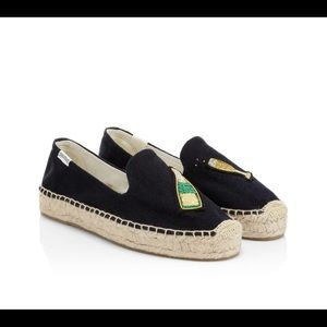 Soludos Cheers Champagne Espadrilles